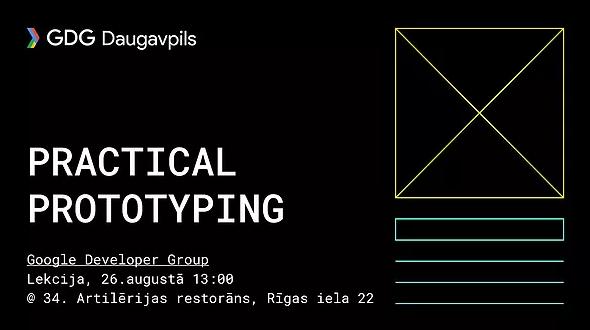 Лекция о прототипах в дизайне интерфейсов от Google Developer Group